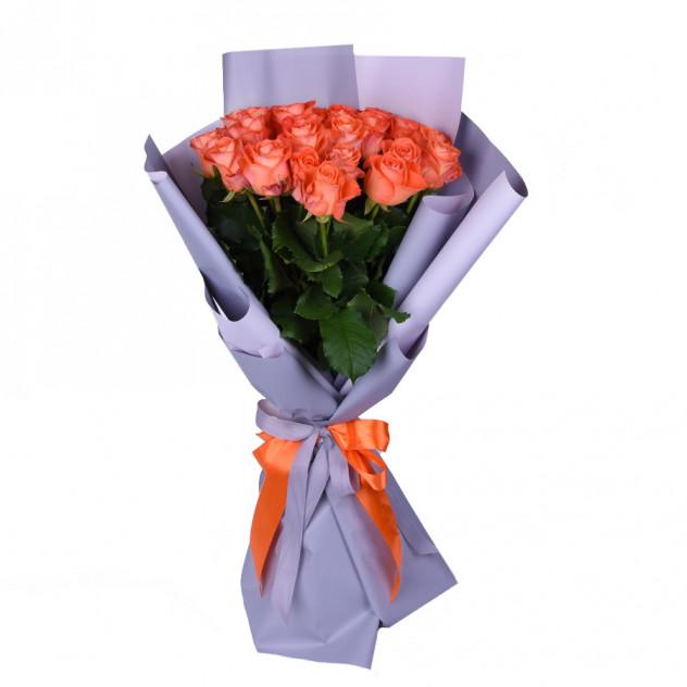 Букет из оранжевых роз № 2